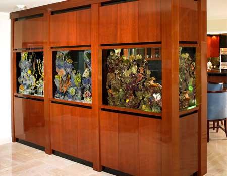 Elegant Custom Fish Tank Cabinet